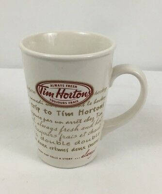 Tim Hortons 2009 #9 Limited Edition Coffee Mug Road Trip Red Letter Every Cup