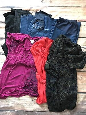 Lot Of 6 Maternity Clothes Size S-M Great To New Condition Pet /Smoke Free Home