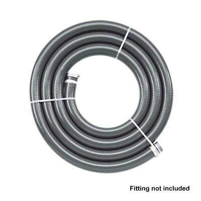 "Grey 102mm 4"" x 20m discharge Heavy Duty Sullage PVC Suction & Delivery Hose"