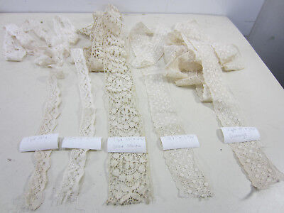 Antique Lot of Cream Colored Heavy Lace Trims   L#168