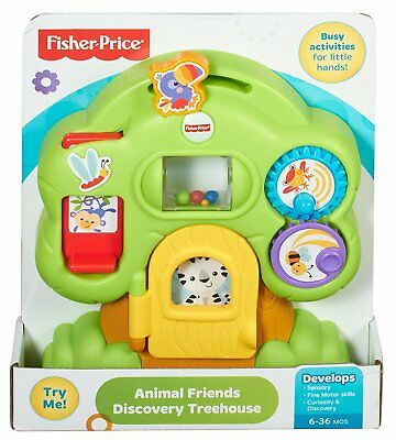 New Fisher-Price Animal Friends Discovery Treehouse Fun Take Along Baby Toy
