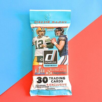 2017 Donruss Football (NFL) Retail Fat Packs - 30 Cards per pack - Great Value!