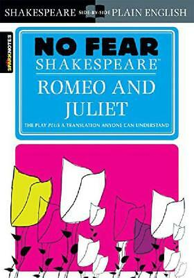 Romeo and Juliet Sparknotes No Fear Shakespeare Paperback Book Free Shipping New