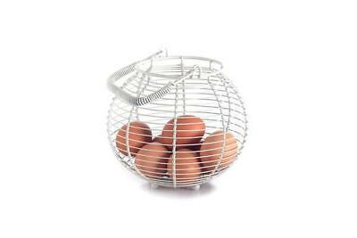 French Country Vintage Inspired Kitchen Rustic CHICKEN Egg Basket New