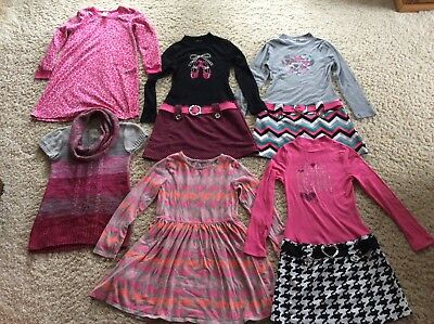 Girls Clothing Lot size 10 12 Dresses Shirts Nightgown Valentine's Day Dresses