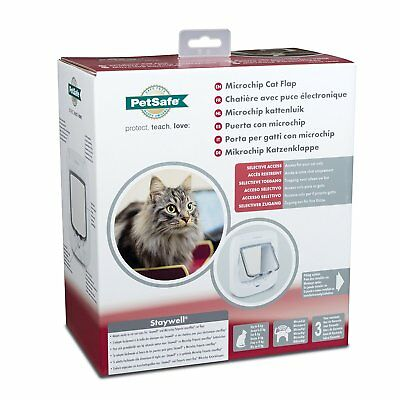 PetSafe Microchip Cat Flap,  with 4-Way Manual Lock, White
