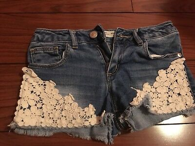 Zara Girls Denim Shorts 6