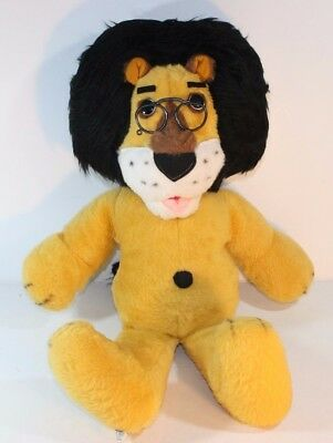 "Animal FAIR INC HUBERT THE HARRIS 27"" LION PLUSH BANK MEMORABILIA 1971 Glasses"