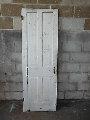 Antique Victorian Four Panel Interior Door - C. 1890 Fir Architectural Salvage