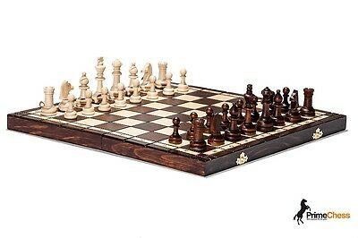 OUTLET-B Hand Crafted Tournament 76 Wooden Chess Set 39cm x 39cm