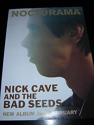 Original Nick Cave And The Bad Seeds Promotional Poster - Nocturama