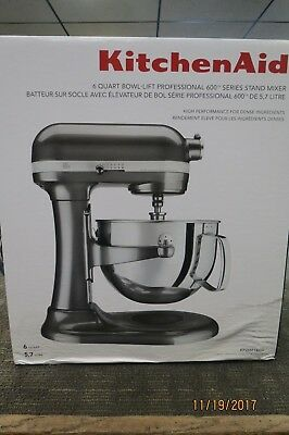 Kitchenaid Kp26m1xqg Professional 600 Stand Mixer Liquid Graphite