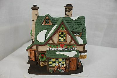 Dept. 56 Dickens Village Series Quilly's Antiques W/Box Christmas Decoration