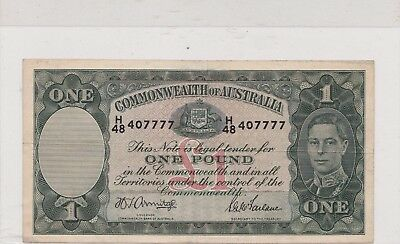 Australia Currency - One Pound - Legal Tender Note