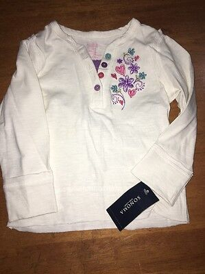 NWT! Sonoma Girls 18 Month Long Sleeve Henley Top