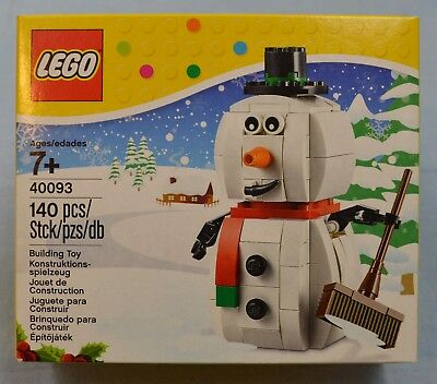 Lego SNOWMAN 40093 Christmas Holiday Frosty Limited Edition Retired Set NEW