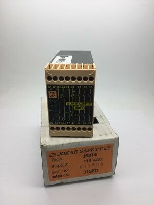 NEW JOKAB SAFETY JSBT4 Safety Relay 115vAC 115 Volts