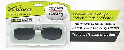 Xplorer Clip-On Sunglasses  Shape #1 Lens Color Smoke