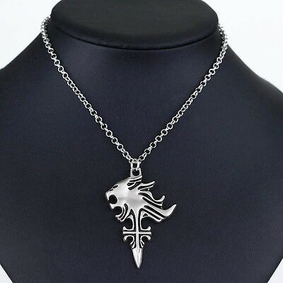 Anime Final Fantasy VIII 8 Griever Squall Leonhart Lion Head Necklace Cosplay