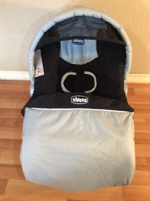 CHICCO Keyfit 30 Infant Car Seat Cushion Cover Canopy Set Part Black Silver