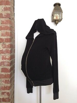 WILDFOX A Pea in the Pod Maternity Size Small Hoodie Jacket Full Zip Distressed