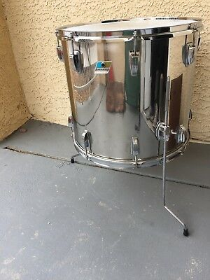Vintage Ludwig 18' Floor Tom Stainless Steel