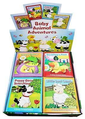A Baby Animal Story Books | Set of 4 Board Books | Baby Animal Adventure.