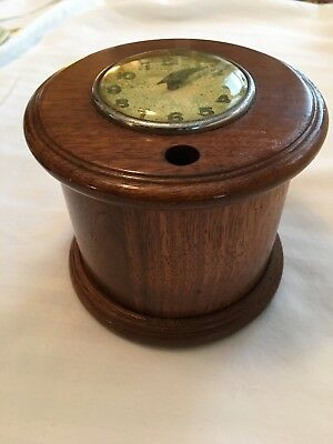 Vintage wood cigarette dispenser with working New Haven clock