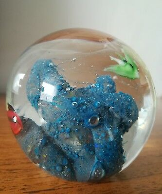 Superb Vintage Murano Fish Aquarium Art Glass Paperweight