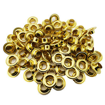 "C.S 1//4/"" Hole Osborne 25 Sets Black Grommets /& Plain Washers #B1-0"