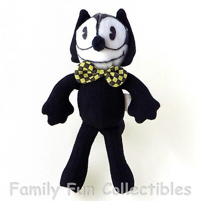 """FELIX THE CAT~1988 Applause~Stuffed Doll~6"""" Bow Tie Cartoon Figure Toy~NEW NOS"""