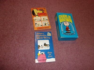 Charles Schultz Charlie Brown Snoopy Book Lot of 7 Boxed Set plus 2 Comic