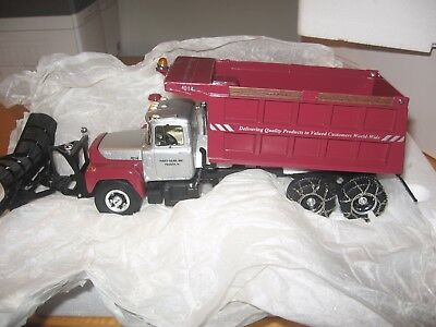Old New Stock 1 St. Gear  Mack R Model Dump With Plow  First Gear
