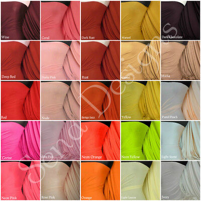 Plain Viscose Jersey Stretch Lycra Fabric Cotton Material RM300 Free P&P