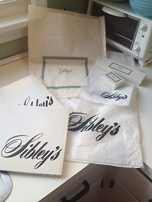 Vintage Sibley's Sibley Lindsay & Curr Rochester NY Retail Shopping Bags & Boxes