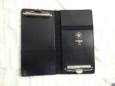 NWOT Waiter Waitress Taxi Wallet Notepad Holder QUALITY Boston Leather USA Thick