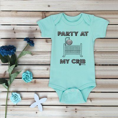 Baby girl boy clothes onsie tshirts funny infant 0-6 6-12 months Blue Gray White