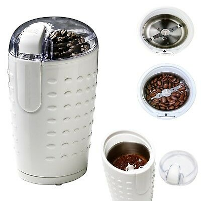 Electric Herb Coffee Grinder Stainless Steel Blades Nuts Seeds Grains Herbs