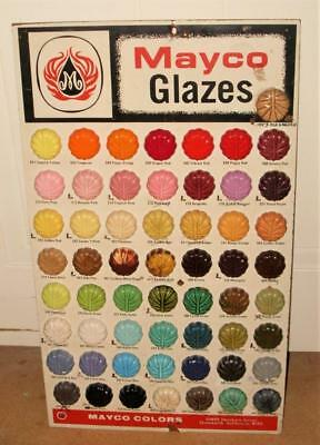 "BEAUTIFUL MATCO GLAZES ADVERTIZING COLOR BOARD FOR STORE DISPLAY 24"" x 14"""
