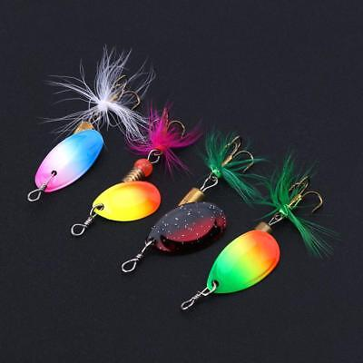 30pcs Fishing Lures Metal Spinner Baits Crankbaits Spoon Tackle for Bass Trout