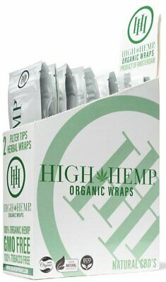 High Hemp Organic Wraps Full Box 25 (2 Wrap) Pouches 50 Wraps BUY 2 & SAVE