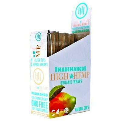 High Hemp Organic Wrap Full Box 25 Pouches 2 Wraps per Pouch 50 Wraps Maui Mango