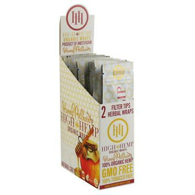 High Hemp Honey Organic Wraps Full Box 25 (2 Wrap) Pouches 50 Wraps BUY 2 & SAVE