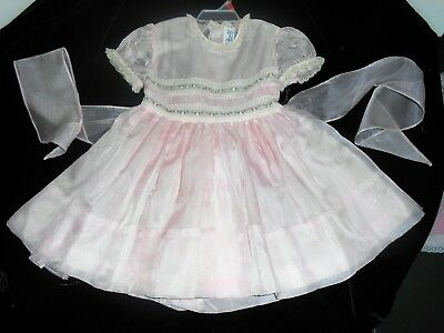 Vintage Organdy & Lace Girls Party Dress Kay Town Togs Original