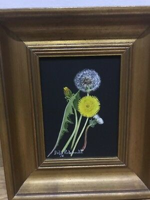 Vintage Original Oil On Board Painting, Delia Portsmouth, Dandelions, Art❤️
