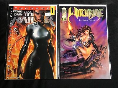Witchblade #1, Tomb Raider #25 Michael Turner Cvr Top Cow Htf !