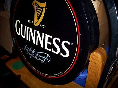 Guinness Electric Beer Sign, Wall Mount Two Sided Bar Light