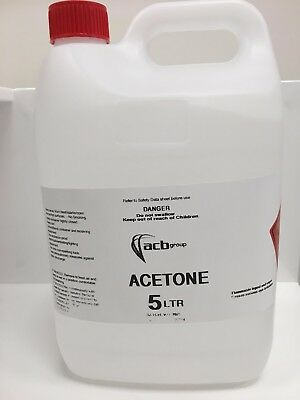 ACB Group 100% Pure Acetone 5L Gel Acrylic Nail Polish Soak Off SNS Remover