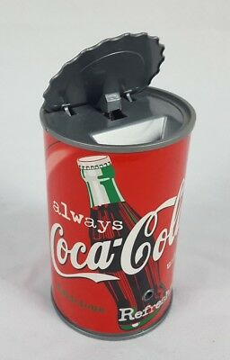 Coca Cola Motion Activated Talking Can Savings Bank Advertising Coke Top Opens