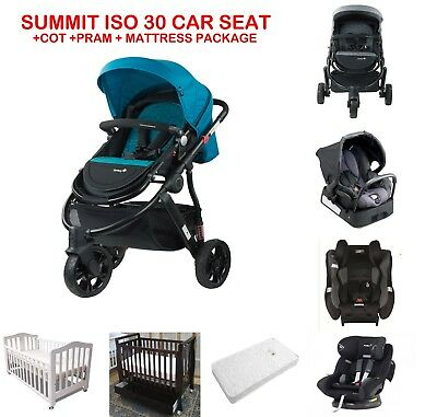 Safety 1st Baby Wanderer Pram Stroller Car Seat Cot Car Seat Mattress Package